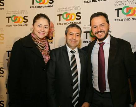 Deputada Liziane com o Ministro do Trabalho, Ronaldo Nogueira e o Secretário Estadual do Trabalho e Desenvolvimento Social, Catarina Paladini.